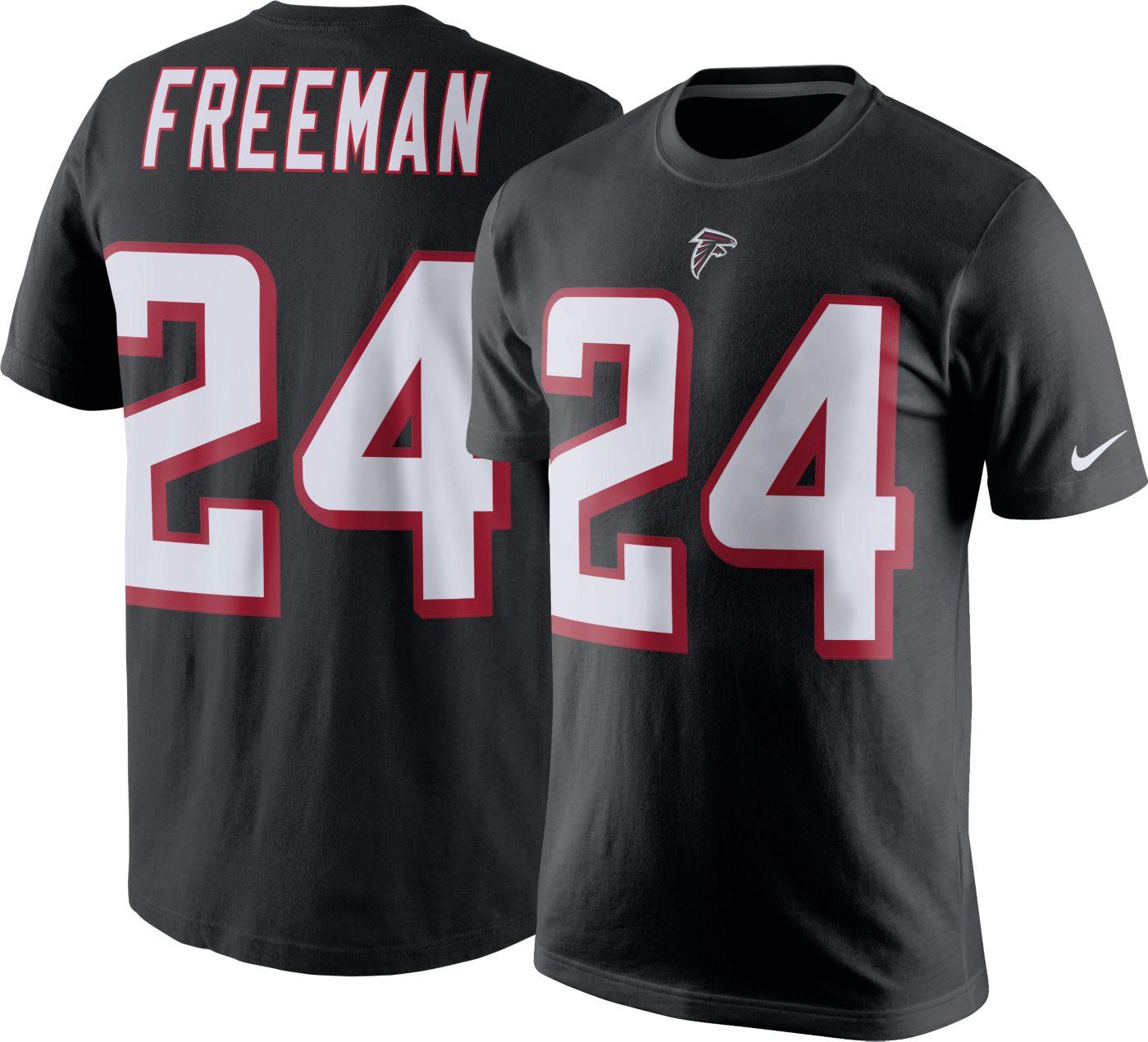 Nike Men's Atlanta Falcons Devonta Freeman #24 Pride Black T-Shirt
