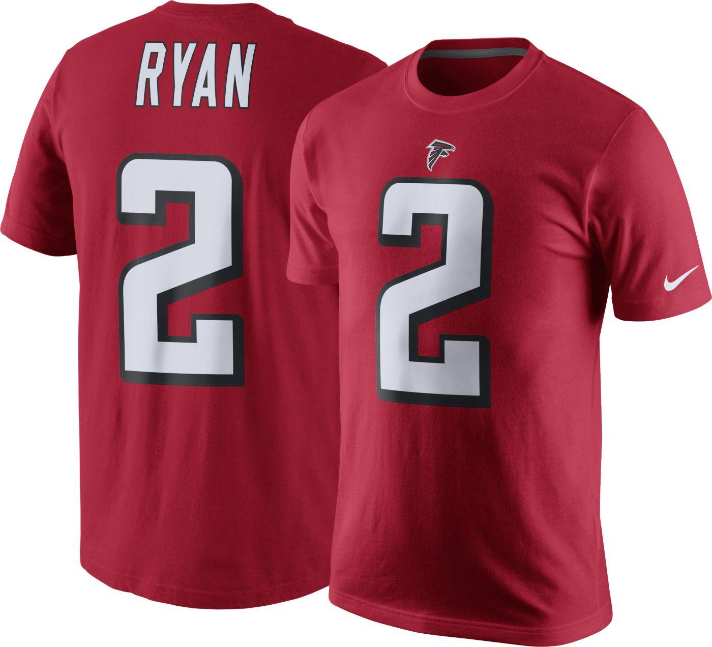 Nike Men's Atlanta Falcons Matt Ryan #2 Pride Red T-Shirt