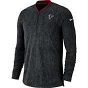 Nike Men's Atlanta Falcons Sideline Coaches Half-Zip Black Pullover