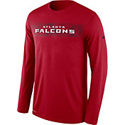 Nike Men's Atlanta Falcons Sideline Seismic Legend Performance Red Long Sleeve Shirt
