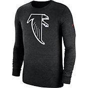 Nike Men's Atlanta Falcons Tri-Blend Historic Crackle Black Long Sleeve Shirt