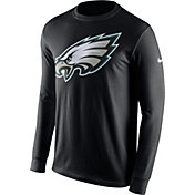 Nike Men's Philadelphia Eagles Logo Black Long Sleeve Shirt