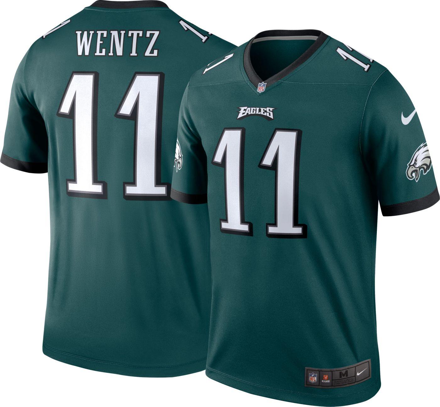 Nike Men's Home Legend Jersey Philadelphia Eagles Carson Wentz #11