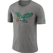 Nike Men's Philadelphia Eagles Historic Crackle Tri-Blend Grey T-Shirt