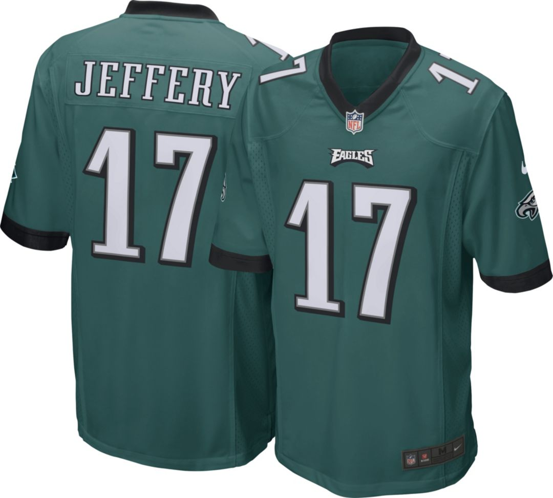 the best attitude e38ec 2c5e9 Nike Men's Home Game Jersey Philadelphia Eagles Alshon Jeffery #17