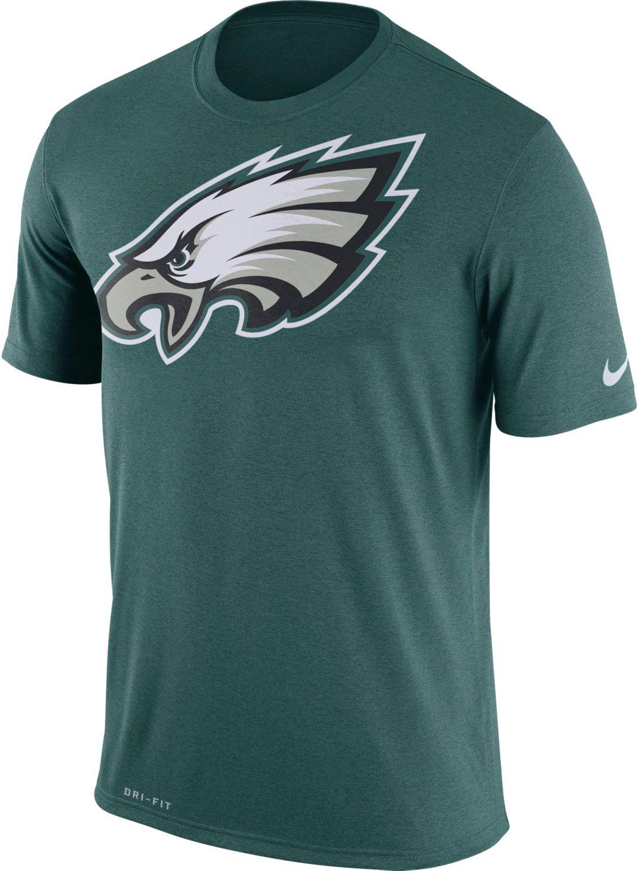 huge selection of dbca1 fbc43 Nike Men's Philadelphia Eagles Legend Logo Green T-Shirt