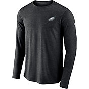 Nike Men's Philadelphia Eagles Sideline Coaches Performance Black Long Sleeve Shirt