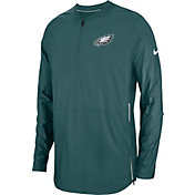 Nike Men's Philadelphia Eagles Sideline Lockdown Half-Zip Green Jacket