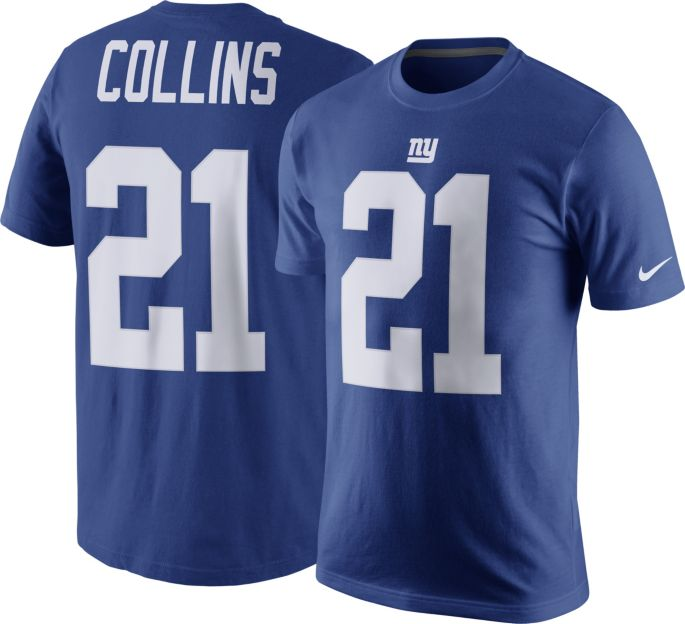 f693910e1e7 Nike Men's New York Giants Landon Collins #21 Pride Blue T-Shirt ...