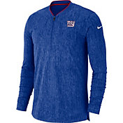 Nike Men's New York Giants Sideline Coaches Half-Zip Royal Pullover