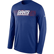 Nike Men's New York Giants Sideline Seismic Legend Performance Royal Long Sleeve Shirt