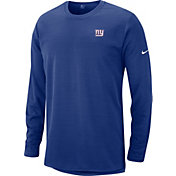Nike Men's New York Giants Sideline Modern Royal Long Sleeve Top