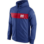 Nike Men's New York Giants Sideline Therma-FIT Royal Full-Zip Hoodie