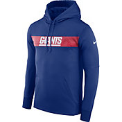 Nike Men's New York Giants Sideline Therma-FIT Royal Pullover Hoodie