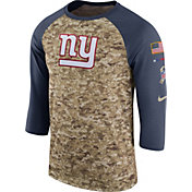 Nike Men's New York Giants Salute to Service 2017 Camouflage Raglan
