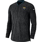 Nike Men's Jacksonville Jaguars Sideline Coaches Half-Zip Black Pullover