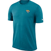 Nike Men's Jacksonville Jaguars Sideline Coaches Performance Teal T-Shirt
