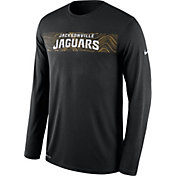 Nike Men's Jacksonville Jaguars Sideline Seismic Legend Performance Black Long Sleeve Shirt