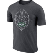 Nike Men's New York Jets Icon Performance Charcoal T-Shirt