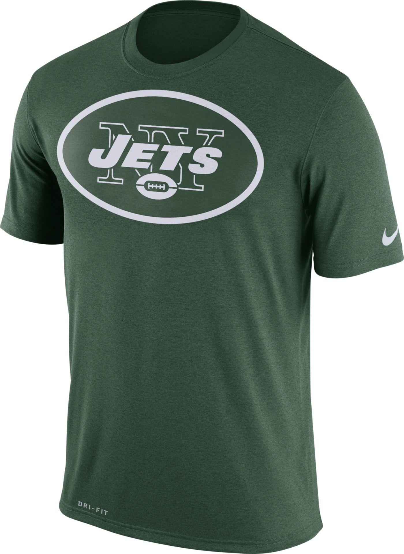 Nike Men's New York Jets Legend Logo Green T-Shirt