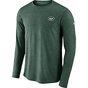 Nike Men's New York Jets Sideline Coaches Performance Green Long Sleeve Shirt