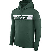 Nike Men's New York Jets Sideline Therma-FIT Green Pullover Hoodie