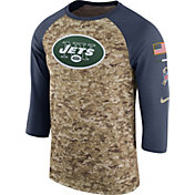 Nike Men's New York Jets Salute to Service 2017 Camouflage Raglan