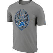 Nike Men's Detroit Lions Icon Performance Grey T-Shirt
