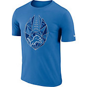 Nike Men's Detroit Lions Icon Performance Blue T-Shirt