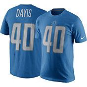 Nike Men's Detroit Lions Jarrad Davis #40 Pride Blue T-Shirt