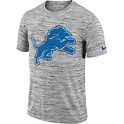 Nike Men's Detroit Lions Legend Velocity Travel Performance Grey T-Shirt