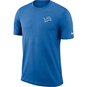 Nike Men's Detroit Lions Sideline Coaches Performance Blue T-Shirt