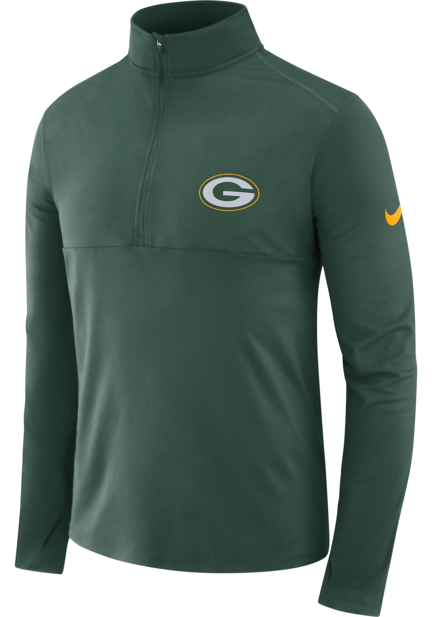 Nike Men's Green Bay Packers Core Performance Green Half-Zip Pullover Top