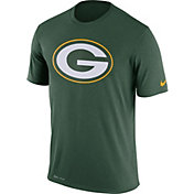Nike Men's Green Bay Packers Legend Logo Performance Green T-Shirt