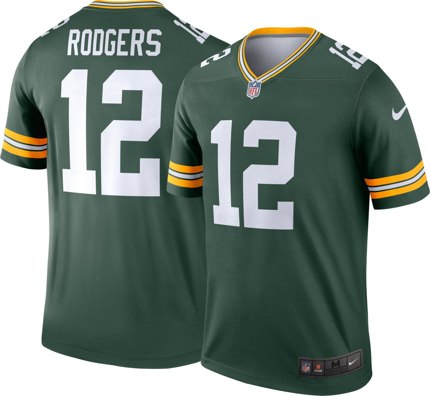 Nike Men's Home Legend Jersey Green Bay Packers Aaron Rodgers #12