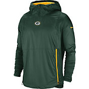 Nike Men's Green Bay Packers Sideline Fly Rush Green Jacket