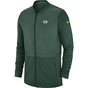 Nike Men's Green Bay Packers Sideline Hybrid Full-Zip Green Jacket