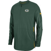 Nike Men's Green Bay Packers Sideline Lockdown Half-Zip Green Jacket
