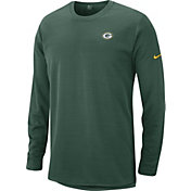 Nike Men's Green Bay Packers Sideline Modern Green Long Sleeve Top