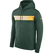 Nike Men's Green Bay Packers Sideline Therma-FIT Green Pullover Hoodie