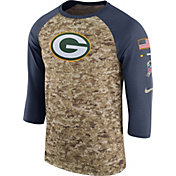 Nike Men's Green Bay Packers Salute to Service 2017 Camouflage Raglan