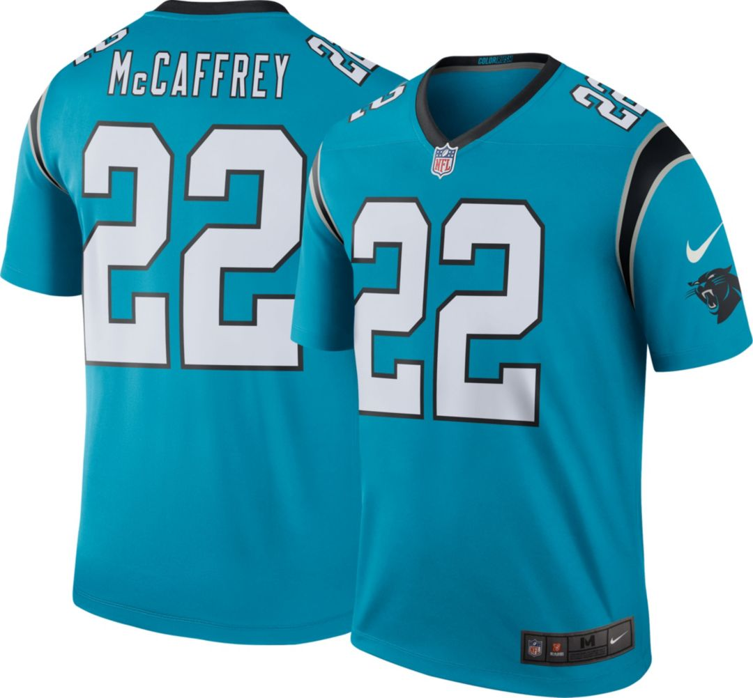 meet 13b6b d9469 Nike Men's Color Rush Legend Jersey Carolina Panthers Christian McCaffrey  #22