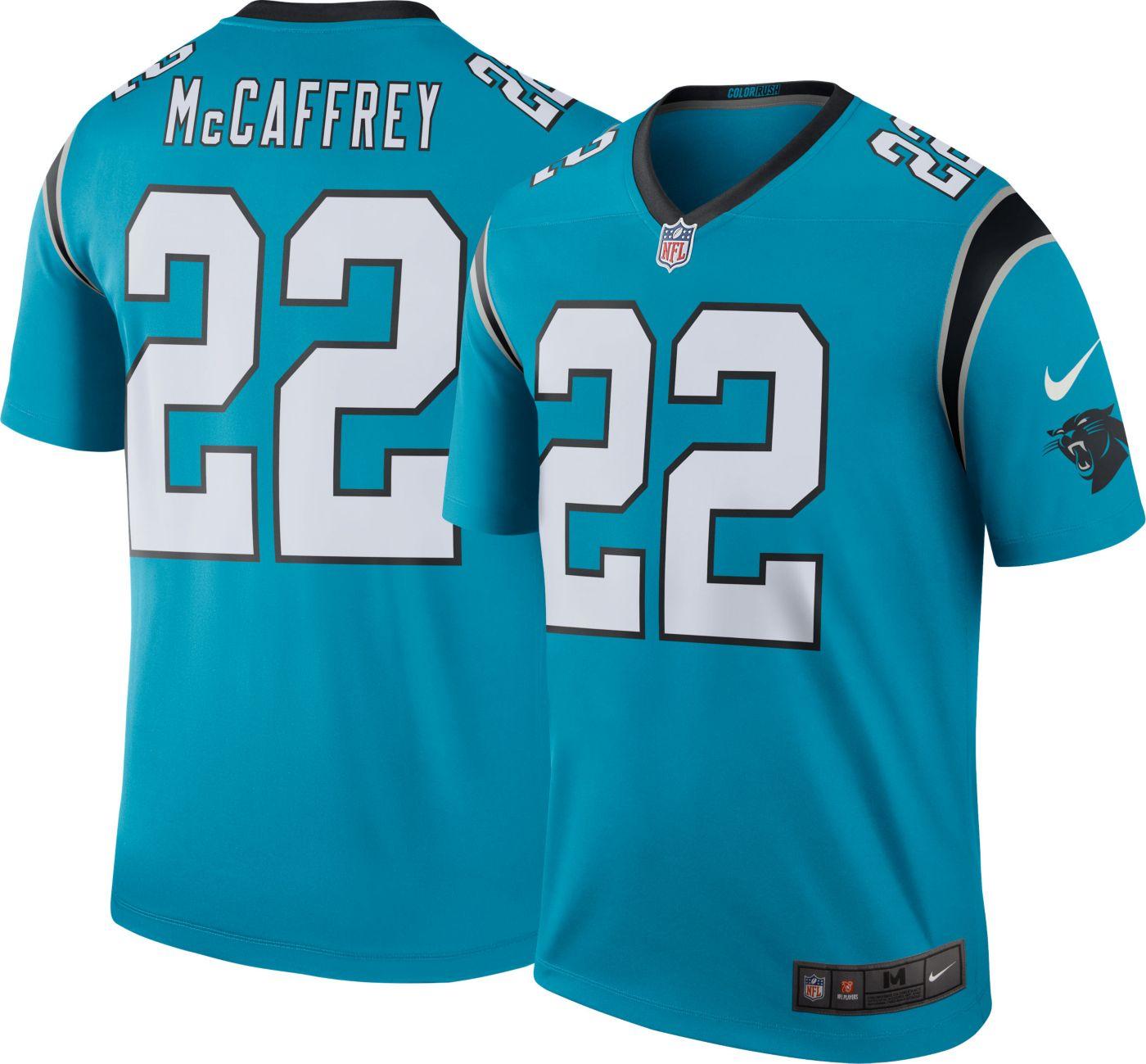 Nike Men's Color Rush Legend Jersey Carolina Panthers Christian McCaffrey #22