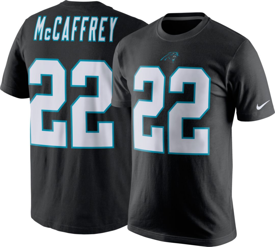 new arrivals 07ed4 340ef Nike Men's Carolina Panthers Christian McCaffrey #22 Pride Black T-Shirt
