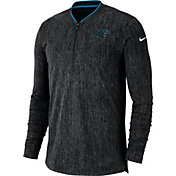 Nike Men's Carolina Panthers Sideline Coaches Half-Zip Black Pullover
