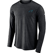 Nike Men's Carolina Panthers Sideline Coaches Performance Black Long Sleeve Shirt