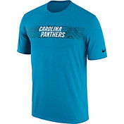 Nike Men's Carolina Panthers Sideline Seismic Legend Performance Blue T-Shirt