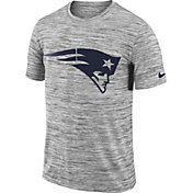 Nike Men's New England Patriots Legend Velocity Travel Performance Grey T-Shirt