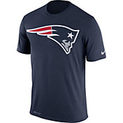 Nike Men's New England Patriots Legend Logo Performance Navy T-Shirt