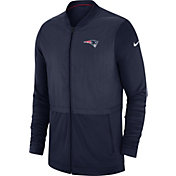 Nike Men's New England Patriots Sideline Hybrid Full-Zip Navy Jacket